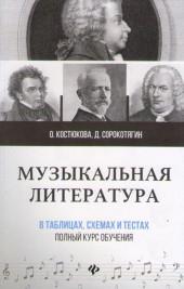 Костюкова, Сорокотягин. Музыкальная литература в таблицах, схемах и тестах.
