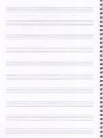 Тетрадь для нот Котята. А4, 24 страницы, с широкой линейкой, пружина.