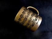 Кружка Ноты Баха, напыление-золото. (Музмания).